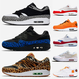 Chinese  Women Mens Cushions Maxes 1 Running Shoes Atmos Animal Pack OG Anniversary Red Royal Blue 87 Parra Top Quality tennis Air Sports Sneakers manufacturers
