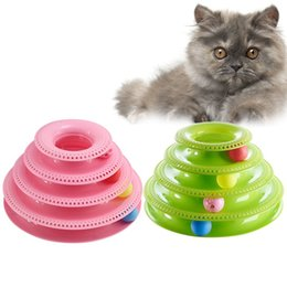 $enCountryForm.capitalKeyWord Australia - Cat Track Crazy Ball Turntable Trilaminar Pet Toy Kitten Puppy Funny Disk Interactive Amusement Plate Game Playing Disc Supply