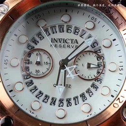 Discount men limited watches chronograph - 2019 New INVICTA Six Needle Three Eyes Men Limited Edition Watches Exquisite Rubber Band Chronograph Watch Mechanical Au