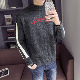 Discount christmas sweaters for men - M-XXL autumn winter christmas sweater men clothes 2019 fashion warm mens sweater for men pullover wear jumper sueters th