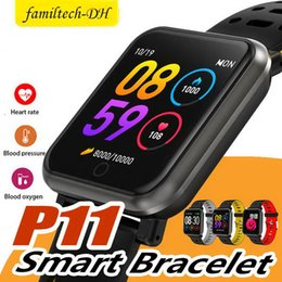 $enCountryForm.capitalKeyWord Australia - P11 1.3inch Smart Band Bluetooth Smart Watch IP68 Waterproof Heart Rate Blood Pressure Pedometer Fitness Tracker Wrist Watches