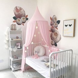 $enCountryForm.capitalKeyWord Australia - Kids Baby Bedding Dome Hanging Bed Canopy Cotton Mosquito Net Bedcover Curtain Girls Room Decoration Pest control Reject Decor