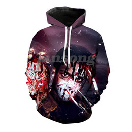 Wholesale hoodies masks online – oversize ski mask the slump god d print hoody tee shirts sweatshirts hoodies pants men harajuku funny streetwear hip hop pullover coats