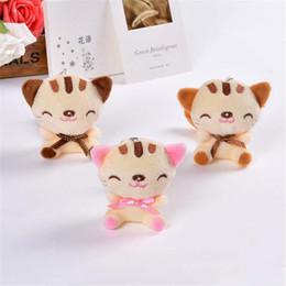$enCountryForm.capitalKeyWord Australia - Cute cat plush toy doll sitting smiley cat mobile phone pendant key chain cat cartoon doll wedding gift