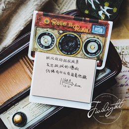 Stationery Australia - 2019 New 24 Pcs lot Vintage Typewriter Camera Diary Sticky Notes Chinese Flower Memo Pad Stickers Stationery Office School Supplies