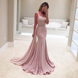 square art Australia - Unique Light Pink Mermaid Prom Dresses Square Neckline Flowly Ribbon Beaded Sash Special Occasion Dresses Backless Formal Evening Gowns 2019