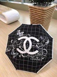 Wholesale Luxury TOP QUALITY parasol sombrilla umbrellas rain gear women paraguas parasol sombrilla women bumbershoot with BOX dust bag Brands HTRFJTD