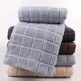 Yellow Towels Sale NZ - Cotton bath towel high quality adult Thicken Water absorption Bath towel Soft skin-friendly 3D lattice towel new factory direct sales