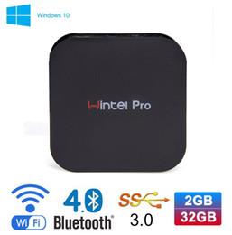 Mini Intel Atom Australia - Hot selling media player Wintel pro Mini PC Intel Atom Z8350 2GB 32GB Support OS Windows 10 W8 pro smart TV BOX T8