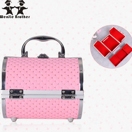 $enCountryForm.capitalKeyWord Australia - Wenjie Brother Pillow Design Aluminium Alloy Make Up Makeup Beauty Case Cosmetic Bag Multi Tiers Lockable Jewelry Box C19041201