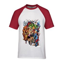 Print Shirt Design Anime Australia - Marvel Family & Stan Lee Tshirt Superhero Design Men's Streetwear Man Harajuku anime print T-shirt male casual fitness basic tee shirts