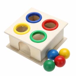 Block Month Australia - earning education toys Newborn Colorful Hammering Wooden Ball Hammer Box Geometric Blocks Kids Early Learning Educational Toys Children G...