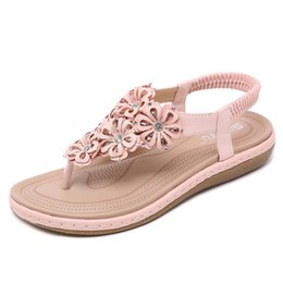 sweet cloth NZ - Cute sweet beauty sandals cross-country woven flat shoes free shipping