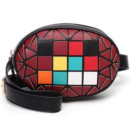 $enCountryForm.capitalKeyWord Australia - Women Fashion Color Block Black Leather Fanny Pack Cute Belt Packs Waist Bag Pouch