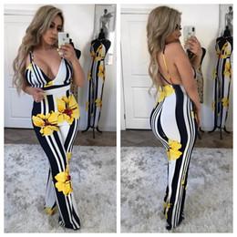 News Clothes Australia - Women Flower Jumpsuits 2019 Ladies Floral Print Deep V Wide-leg Jumpsuit Outfit Party Night Club Clothing News