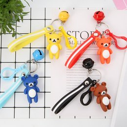 $enCountryForm.capitalKeyWord Australia - Cartoon Bear Key Chain For Women's Bag Pendant PVC Silicone Doll Charm Keychains Jewelry Gift Pendant Key Ring New 2019