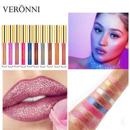 Plum Lip Color Australia - Best selling explosions veronni Bellunni diamonds illusion shiny matte metal lip gloss lipstick New offer explosions free shipping