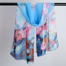 Small Scarf korean online shopping - 2018 New Spring And Autumn Silk Scarf Ladies Korean Chiffon Shawl Wild Long Thin Tulle Towel Winter Decorative Small Scarf