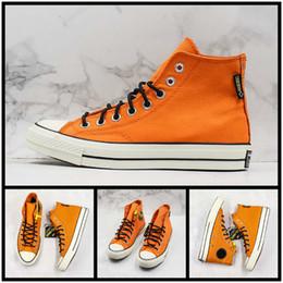 $enCountryForm.capitalKeyWord Australia - Covase Chuck Star X GORE-TEX Canvas Shoes For Men Womans Casual Orange Black Fashion Designer Trainer Sports Street Sneaker