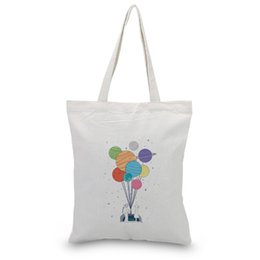 $enCountryForm.capitalKeyWord Australia - balloon pattern Text DIY Satchel Foldable BagHandbag Canvas Tote Bag cartoon Shopping Bag Print Custom Print Logo Daily Use Eco