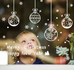 $enCountryForm.capitalKeyWord NZ - 1Set Christams Ball Bell Window Stickers Snowflake Wall Stickers Christmas Window Wall Decals Xmas Christmas Decoration