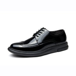Shoe department online shopping - New Shiny Leather Business Shoes Fashion Department With Casual Men s Single Shoes