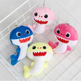 Baby Games Home Australia - BABY SHARK Keychains Key Chains 10CM Stuffed&Plush Dolls 4inch Keyrings Cars Plush Pendant School Bags Party Home Decoration Top Gifts C12