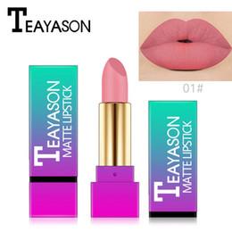 Smooth lipStick online shopping - TEAYASON colors Makeup Waterproof Pigments Red Matte Lipstick Healthy Moisturizer Smooth Silky Long Lasting Gentle Velvet Matte Lip stick