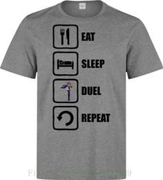 Eat Sleep Duel Repeat Yugi Yu Gi Oh Style T-shirt da uomo (donna disponibile) T-shirt stampata grigia Stile estivo in Offerta