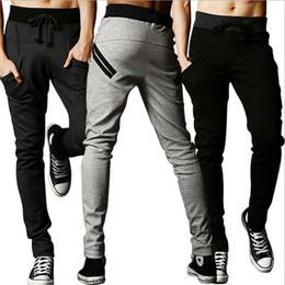 Jogging Pants Fit For Men Australia - New 2016 Mens Joggers Fashion Harem Pants Trousers Hip Hop Slim Fit Sweat Pants Men for Jogging Dance 3 Colors sport pants M~3XL