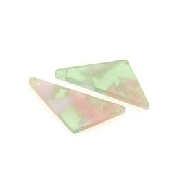 $enCountryForm.capitalKeyWord NZ - 20Pcs 25x11MM Acetate Acetic Acid Triangle DIY Earrings Pendants Pendulum Ornaments Acetic Acid Fresh Powder For Jewelry Making Accessories