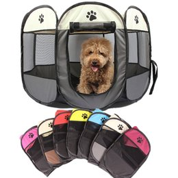 $enCountryForm.capitalKeyWord NZ - Portable Folding Octagonal Pet Fence 600D Oxford Cloth Waterproof Scratch-resistant Dog House Cage Pet Tent Puppy Outdoor Kennel 91*91*58cm