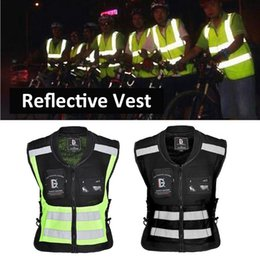 Motorcycle Running Light Australia - Safety Reflective Running Cycling Vest Ultra Light Comfortable Motorcycle Reflective Sleeveless Jacket