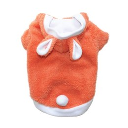 small teddy clothes UK - small dog clothes Rabbit Turned winter warm pet Clothing hoodie dog coat jacket pet costumes Teddy Bichon Frise apparel