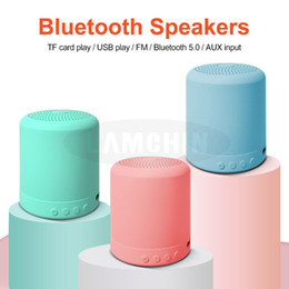 portable waterproof stereo wireless bluetooth speaker UK - Mini Portable Bluetooth Speaker Macaron Stereo Wireless Speaker Music Waterproof Loudspeaker Outdoor Bathroom Showers Subwoofer