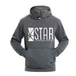 China Autumn brand hoodies series men hoody STAR S.T.A.R.labs jumper the flash gotham city comic books black sweatshirt XXXL supplier star hoodie jumper suppliers