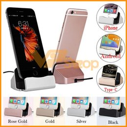 Wholesale For iPhone X USB Cable Sync Cradle Charger Base For Xiaomi Samsung Android Type C Phone Stand Holder Charging Dock Station