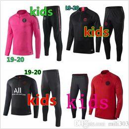 Children s suits boys online shopping - 2019 Psg kids tracksuit psg soccer jogging kids jacket MBAPPE POGBA Survetement Paris air child football training suit