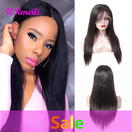 lace front wig human hair 28 Australia - human hair lace front wigs Peruvian Straight Remy Hair Wig With Baby Hair Natural Pre Plucked Hairline Full End Perruques de cheveux humains