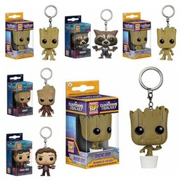 $enCountryForm.capitalKeyWord NZ - FUNKO POP Pocket Pop Keychain Official Guardians of the Galaxy Groot Rocket Action Figure Collectible Model Toy Christmas Gift