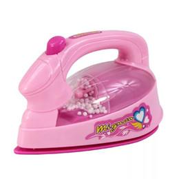 Pink Toy Kitchen Set Australia - Children's Mini Kitchen Toy Set Simulations Small Appliances Little Family Toy Mini Electric Iron