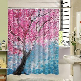 Curtains Styles Designs UK - Shower Curtain Decor With Beautiful Floral Polyester Fabric Design Water Resistance Bathing Curtains SL