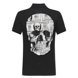 $enCountryForm.capitalKeyWord Australia - 2019 New Designer Brand T Shirts For Men Tops Skulls Hot drilling PP T Shirt Mens Clothing Short Sleeve Tshirt Women Tops M-3XL