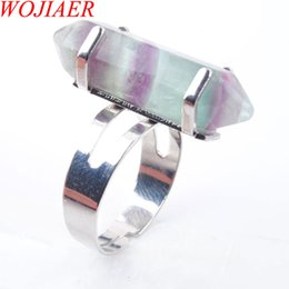$enCountryForm.capitalKeyWord Australia - WOJIAER Unique Ring for Women Natural Stone Round Beads Casual Finger Rings Flourite Silver Color Party Jewelry 1PCS DX3037