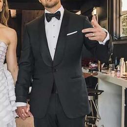 Groom Pants Coat Australia - Groom Wedding Tuxedo Men Suits with Black Satin Shawl Lapel Man Blazer Custom Made Bridegroom Jacket 2 Piece(Coat+Pants)Terno Masculino
