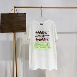$enCountryForm.capitalKeyWord Australia - Women Fashion Luxury Designer Oversize T-Shirt With Letter Beads Tops Pullover Shirts High End Short Sleeve Female Runway Girls Tee T-Shirt