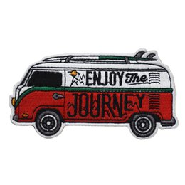 $enCountryForm.capitalKeyWord Australia - Hot Sell Cartoon Journey Bus Embroidered Iron On Patches For Clothing Bag Hat DIY Applique Free Shipping