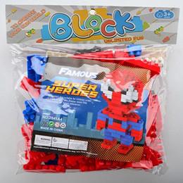 Spiderman Block Figures Australia - Super Heroes Building Blocks Figures The Avengers Spiderman Thor Hulk Iron Man Kids Toys Plastics Cartoon Gift for Children