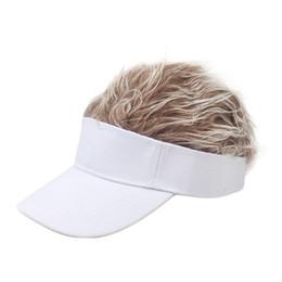 $enCountryForm.capitalKeyWord Australia - 2019hat Funny Men Adjustable Wig Cap Unisex Flair Hair Visor Snapback Casual Golf Caps Outdoor Wig Cap Parent-child Street Trend