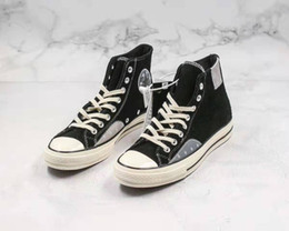 chucks shoes men NZ - mens designer sneakers chuck 70s high low boots mixed material eyelet suede canvas shoes unisex chaussures women trainer men sports shoes